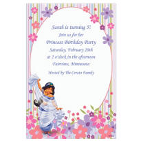 Jasmine in Flower Garden Custom Invitation
