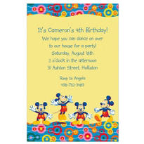 Mickey Mouse Poses Custom Invitation
