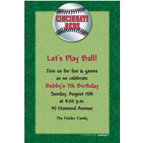 Cincinnati Reds Custom Invitation