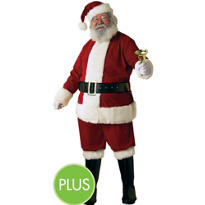 Adult Ultra Velvet Santa Suit Plus Size