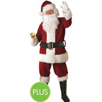 Adult Crimson Regency Plush Santa Suit Plus Size