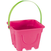 Pink Square Pail 4in x 5in