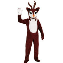 Adult Mascot Red Nose Reindeer Costume Premium