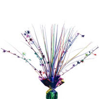 Multicolor Foil Spray Centerpiece 12in