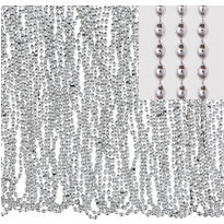 Silver Bead Necklaces 30in 50ct
