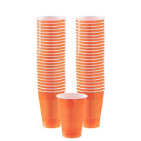 BOGO Orange Plastic Cups 12oz 50ct