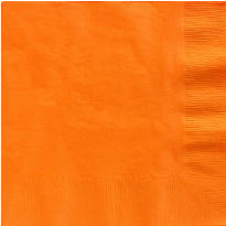 Orange Dinner Napkins 50ct