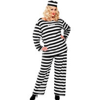 Adult Lady Lawless Prisoner Costume Plus Size