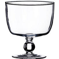 Glass Bowl Candle Holder 4 1/3in x 4 3/4in