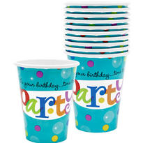 Perfect Time To Party Cups 18ct