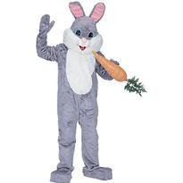 Adult Grey Mascot Bunny Costume Premium