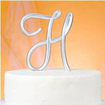Monogram H Cake Topper
