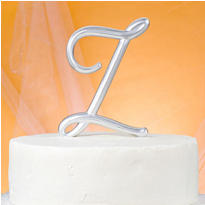 Monogram Z Wedding Cake Topper