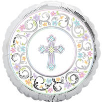 Prismatic Joyous Celebration Christening Balloon 18in