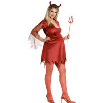 Adult Devil Maternity Costume Deluxe