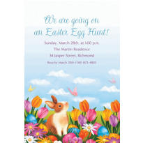 Garden Bunny Custom Invitation