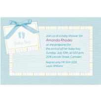 Baby Soft Blue Custom Baby Shower Invitation