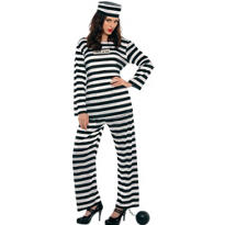 Adult Lady Lawless Prisoner Costume