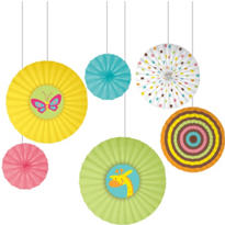 Fisher Price Paper Fan Baby Shower Decorations 12ct