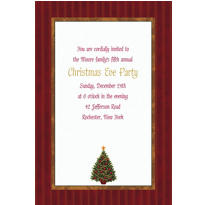 Twinkling Tree Custom Invitation