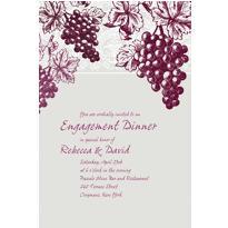 Grape Vine Silhouette Custom Invitation