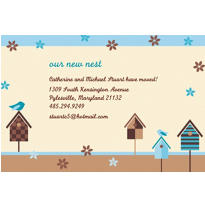 Quaint Birdhouse Custom Housewarming Invitation