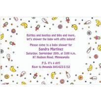 Baby Girl Things Custom Baby Shower Invitation