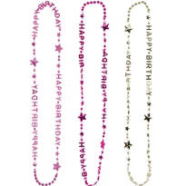Happy Birthday Necklaces 3ct