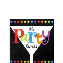 Its Party Time Beverage Napkins 16ct