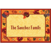 Thanksgiving Scrapbook Custom Thank You Note
