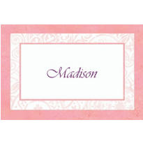 Custom Pink Radiant Cross Religious Thank You Note