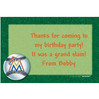 Miami Marlins Custom Thank You Note