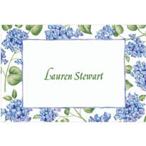 Blue Hydrangeas Custom Thank You Note