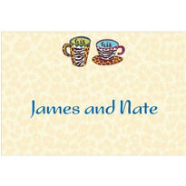 His and His Coffee Mugs Custom Wedding Thank You Note
