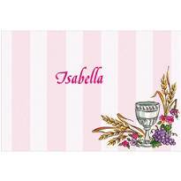 Chalice, Pink Ribbon and Doves Custom Thank You Note