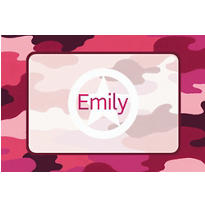 Pink Camouflage Custom Thank You Note