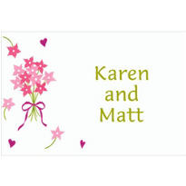 Bouquet & Florets Custom Wedding Thank You Note
