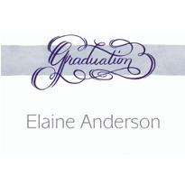 Calligraphic Graduation Custom Thank You Notes