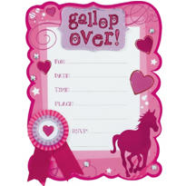 Horseplay Jumbo Invitations 8ct