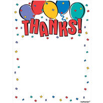Balloon Party Folded Thank You Notes 8ct