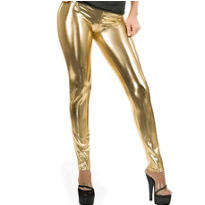 Old School Gold Lame Leggings