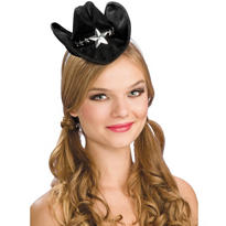 Black Mini Cowboy Hat