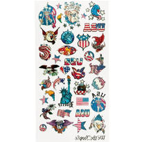 Patriotic Mega Tattoos 1 Sheet