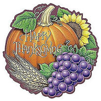 Happy Thanksgiving Heritage Cutout 18in