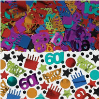 Dots & Stripes 60th Birthday Confetti