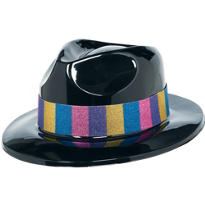 Glitter Band Gangster Hat