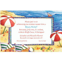 Day at the Beach Custom Invitation