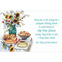 Bagel Brunch Two Custom Invitation