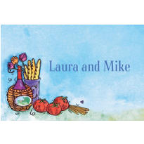 Italian Dinner Party Custom Thank You Notes