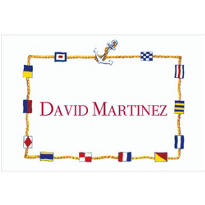 Nautical Flags Border Custom Thank You Note
